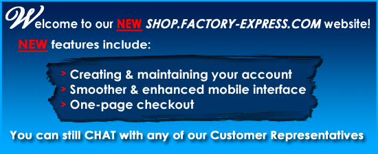 New shop.factory-express.com website
